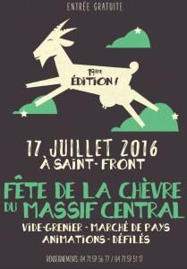 Affiche fête chèvre 2016