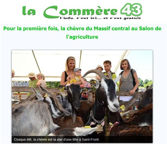 Revue de presse : la commère 43 parle de la chèvre M-C au SIA 2017